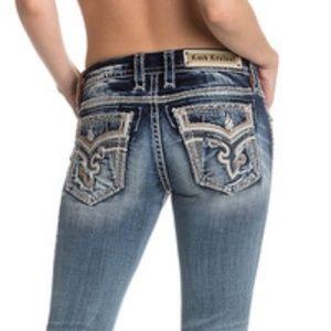 Rock Revival Kai Boocut Denim Distressed Jeans